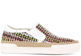Ash woven slip on sneakers