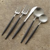 Crate & Barrel Aero Black 5-Piece Flatware Place Setting