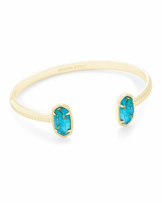 Kendra Scott Elton Cuff Bracelet for Women Fashion Jewelry Rose Gold-Plated Rose Gold-Plated Drusy