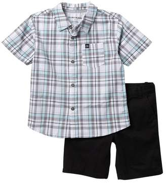 Calvin Klein Plaid Woven Shirt & Shorts Set (Toddler Boys)