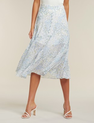 Ever New Bronte Petite Button Front Midi Skirt