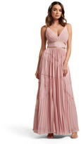 Forever New Kayla Spliced Lace Pleated Maxi Dress