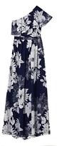 Vince Camuto Floral-print One-shoulder Maxi Dress