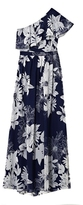 Vince Camuto One-shoulder Floral-print Maxi Dress