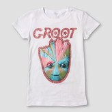 Guardians of the Galaxy Girls' Guardians of the Galaxy Groot Short Sleeve T-Shirt - White