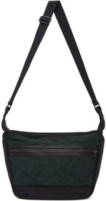 Master-piece Co Green and Black Rebirth Project Edition Canvas Messenger Bag