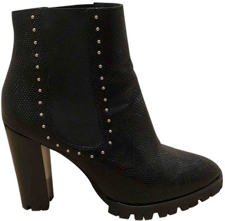 The Kooples FW18 Black Leather Ankle boots