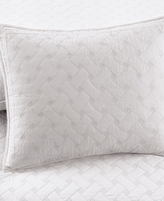 Martha Stewart Collection Collection White Basket Stitch Standard Sham
