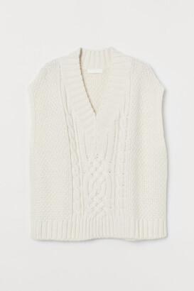H&M Cable-knit Sweater Vest