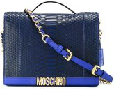 Moschino logo plaque shoulder bag - women - Leather/Python Skin - One Size