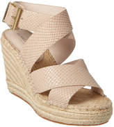 Kenneth Cole New York Oda Leather Wedge Sandal