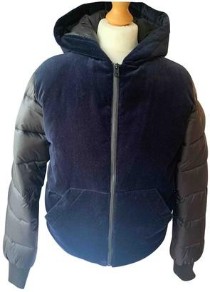 Calvin Klein Navy Velvet Coat for Women