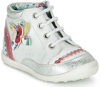 Catimini POUSSIN girls's Mid Boots in White