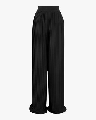 Semsem Pleated Crepe Wide Leg Pants