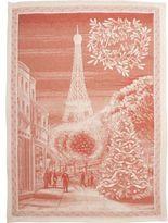 Noël Red Joyeux Eiffel Tower Kitchen Towel