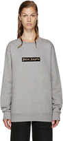 Palm Angels Grey Logo Sweatshirt