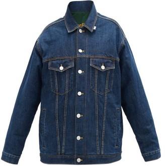 Martine Rose Reversible Oversized Denim Jacket - Denim