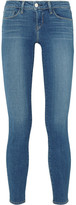 L'Agence The Chantal Low-rise Skinny Jeans - Mid denim