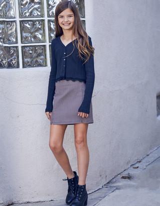 WHITE FAWN Gingham Girls Mini Skirt