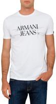 Armani Jeans Armani Logo Tee With Back Eagle