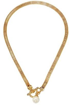 Lauren Ralph Lauren 16 Mesh Toggle Pendant Necklace (Gold) Necklace