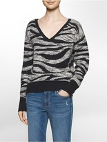 Calvin Klein Animal Jacquard V-Neck Top