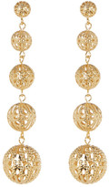 Yochi Filigree Drop Earrings