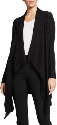 Emporio Armani Cashmere-Blend Pleated Knit Trapeze Sweater