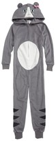 PJ Salvage Girl's Cat Fitted One-Piece Pajamas