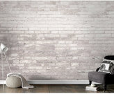 Graham & Brown Grey Brick Wall Mural Wallpaper