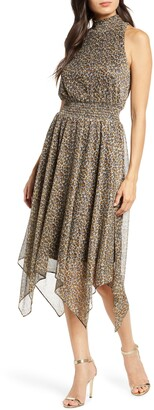 Sam Edelman Leopard Print Handkerchief Dress