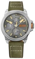 Hugo Boss 1513318 Leather Strap Chronograph 3-Hand Quartz Watch One Size Assorted-Pre-Pack