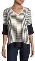 Weekend Max Mara Striped V-Neck Sweater