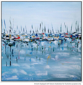 United Artworks Marina Bay Canvas Painting With Floating Frame