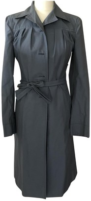 Prada Navy Cotton Trench Coat for Women