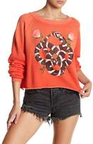 Wildfox Couture Snake Charmermonte Crop Pullover