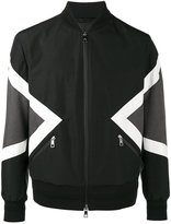 Neil Barrett Modernist Bomber Jacket - men - Cotton/Polyamide/Polyester/Cupro - XXS
