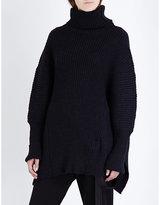 Ann Demeulemeester Turtleneck Chunky-knit Wool-blend Jumper