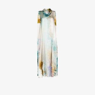 Roksanda Leesha Watercolour Print Silk Gown