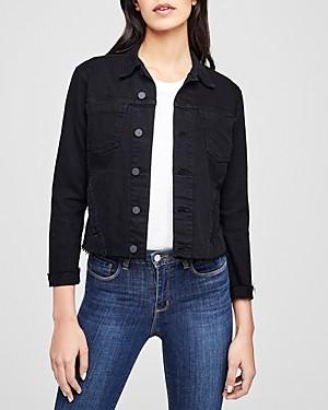 L'Agence Janelle Raw-Edge Denim Jacket