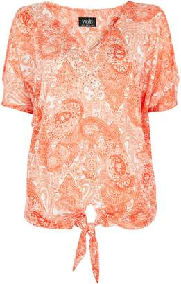 Wallis **TALL Orange Embellished Paisley Top