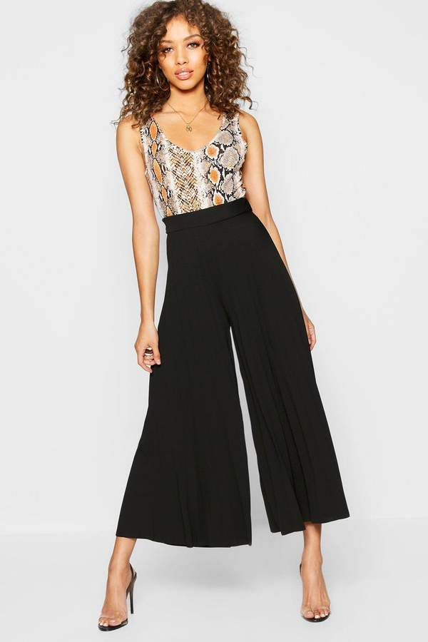 boohoo Pleated Culotte Trouser