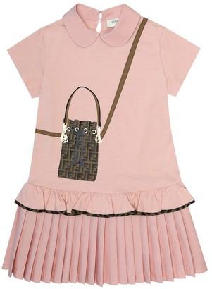 Fendi Kids Trompe l'oeil cotton dress
