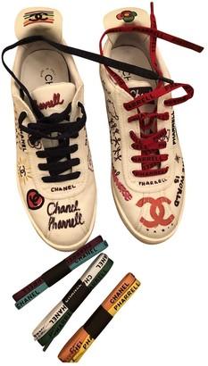 Chanel X Pharrell Williams White Cloth Trainers