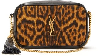 Saint Laurent Lou Mini Leopard-print Leather Cross-body Bag - Leopard