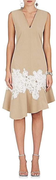 Derek Lam Women's Lace-Appliquéd Cotton Dress