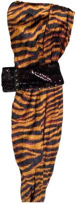 Louis Vuitton Orange Silk Dresses