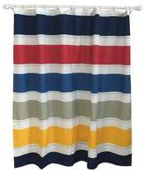 Pillowfort Warm Rugby Stripe Shower Curtain Multicolored