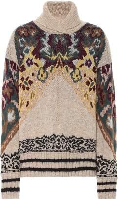 Etro Wool, silk and alpaca-blend jacquard sweater