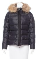 Moncler Fur-Trimmed Angers Puffer Jacket